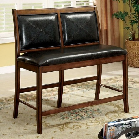 Living Stone II Tobacco Oak 2 Seater Counter Height Chair