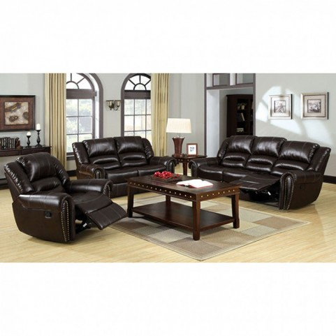 Dudhope Dark Brown Reclining Living Room Set