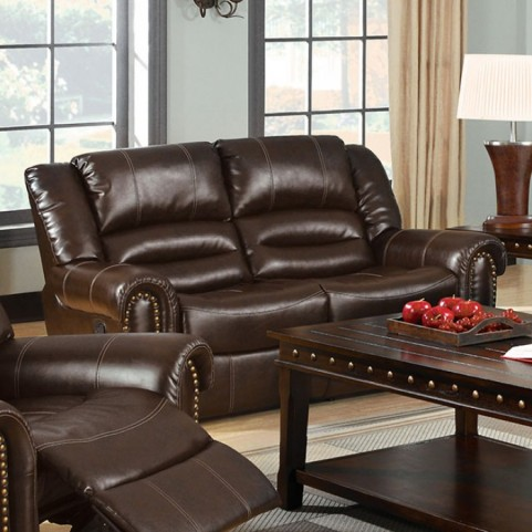 Dudhope Dark Brown Reclining Loveseat