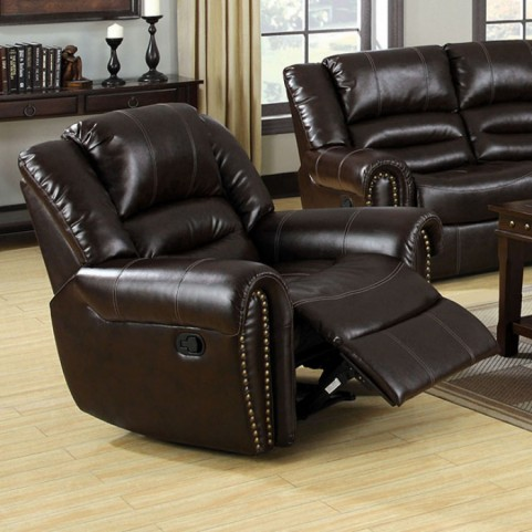 Dudhope Dark Brown Bonded Leather Recliner
