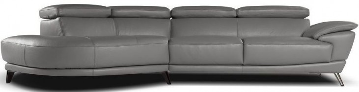 Marisol Grey Italian LAF Chaise Leather Sectional