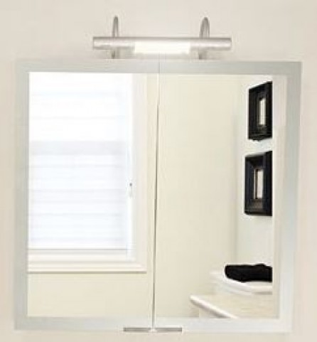 "Axara 35"" FL Anodized Mirror Cabinet"