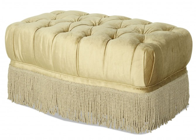 Imperial Court Tufted Chair Ottoman