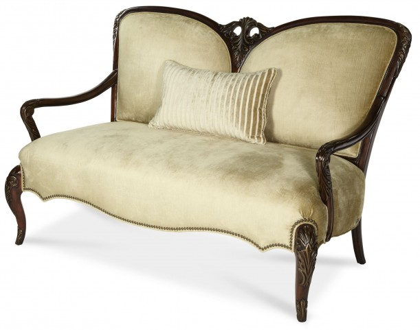 Imperial Court Wood Trim Settee