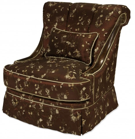 Imperial Court Radiant Chestnut Wood Trim Swivel Chair