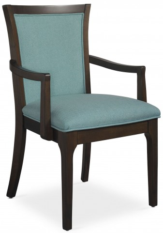 Improv in B Clear Brown and Maxi Teal Fabric Arm Chair