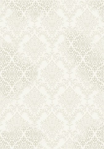 Infinity Cream and Beige Damask Large Rug