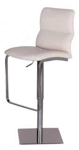 Intel White Hydraulic Barstool