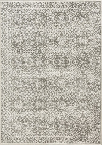 Intrigue Brown/Cream Circles Medium Rug