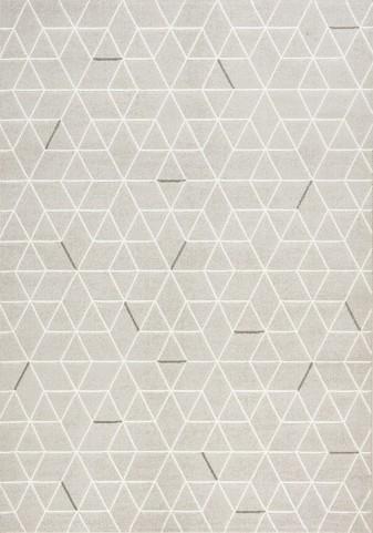 Intrigue White/Brown Geometric Large Rug