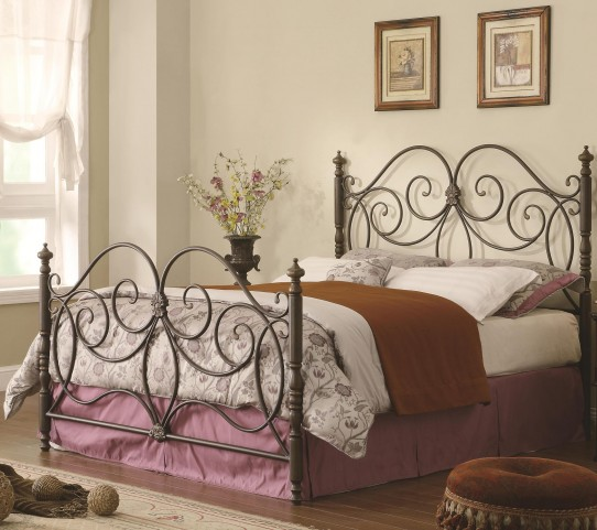 Dahlia Full Size Metal Panel Bed