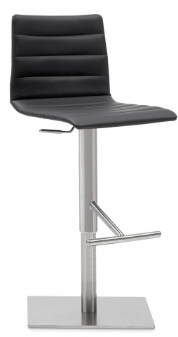 Jam Skill Black Stainless Steel Swivel stool