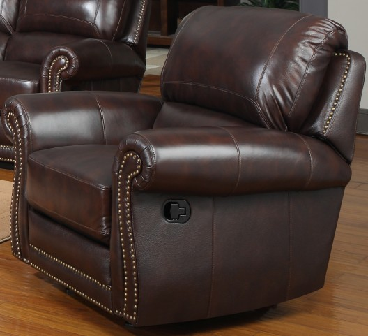James Tobacco Reclining Chair