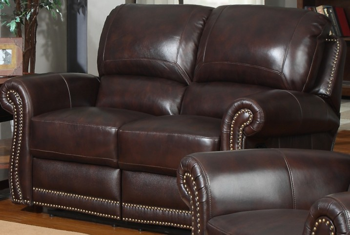 James Tobacco Reclining Loveseat