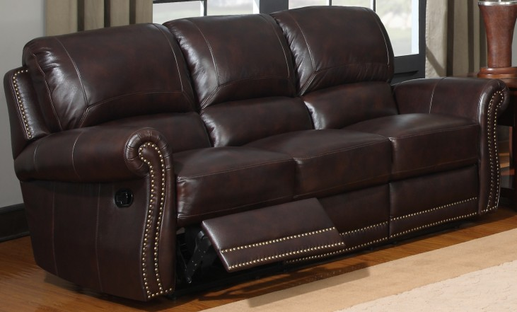 James Tobacco Reclining Sofa