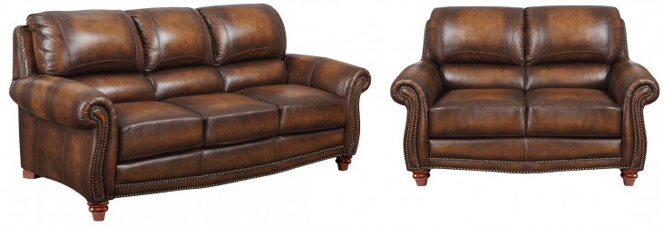 James Monaco Leather Living Room Set