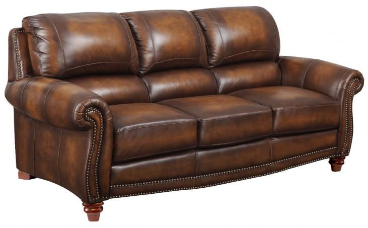 James Monaco Leather Sofa