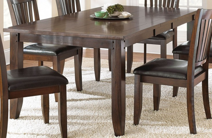 Josie Red Oak Extendable Rectangular Dining Table