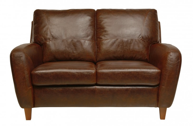 Jennifer Italian Leather Loveseat