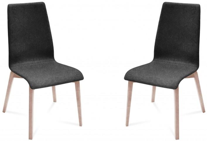 Jill Nordwool Dark Grey White Ash Frame Ashwood Chair Set of 2
