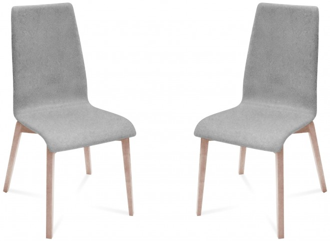 Jill Nordwool Light Grey White Ash Frame Ashwood Chair Set of 2
