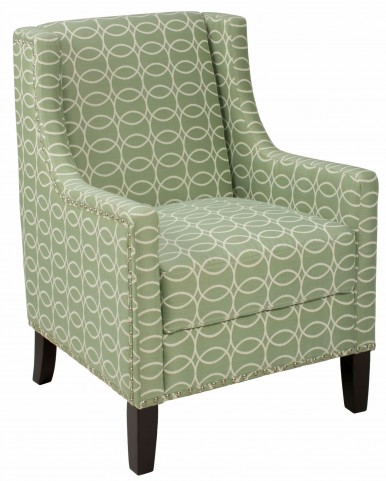 Josie Mint Green Accent Chair