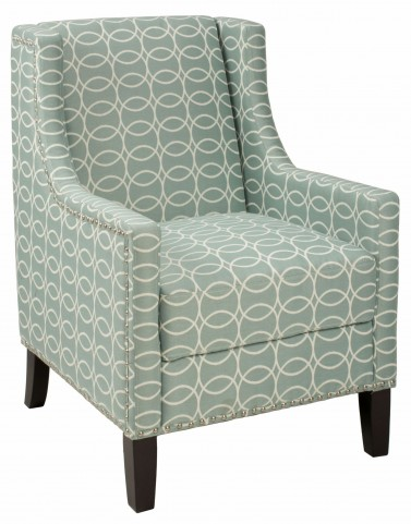 Josie Light Blue and Grey Accent Chair