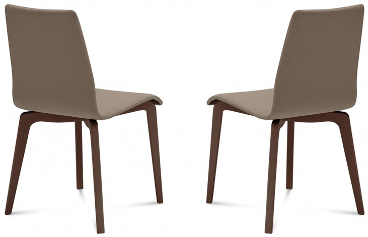 Jude Skill Taupe Chocolate Frame Ashwood Chair Set of 2