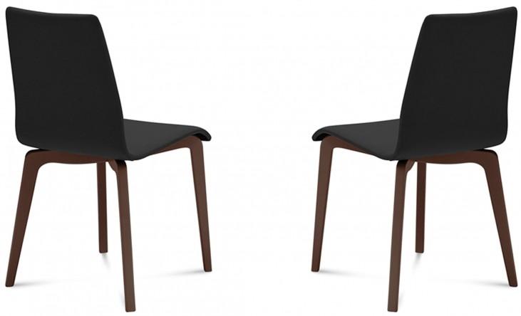 Jude Skill Black Chocolate Frame Ashwood Chair Set of 2