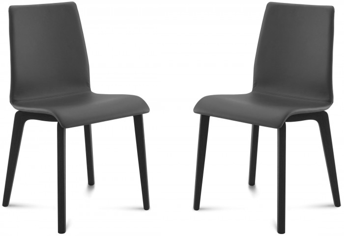 Jude Skill Black Anthracite Frame Ashwood Chair Set of 2