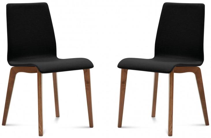 Jude Skill Black Walnut Frame Ashwood Chair Set of 2