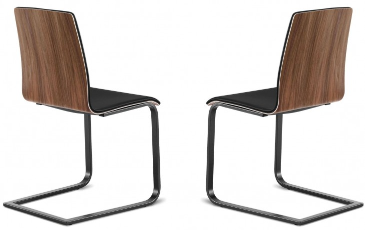 Juliet Chocolate Back Steel Chair Set of 2