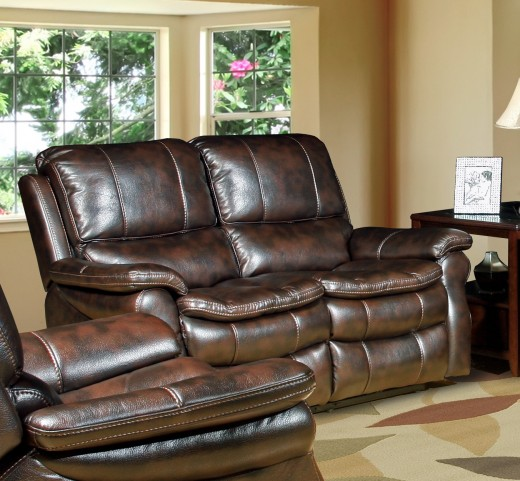 Juno Nutmeg Dual Power Reclining Loveseat