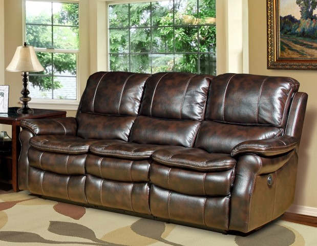 Juno Nutmeg Dual Power Reclining Sofa