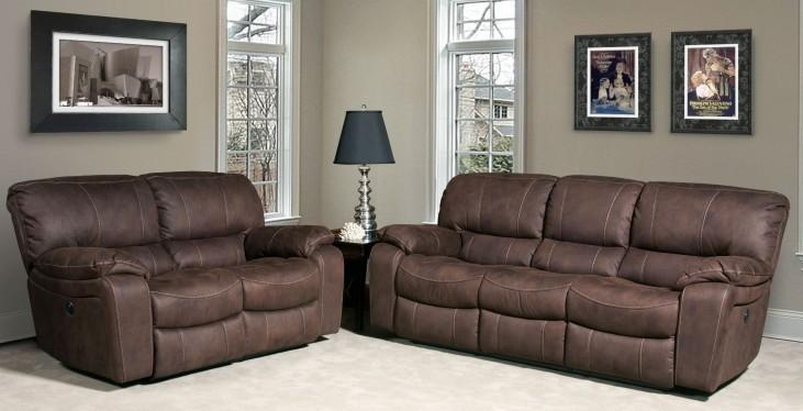 Jupiter Dark Kahlua Dual Reclining Living Room Set