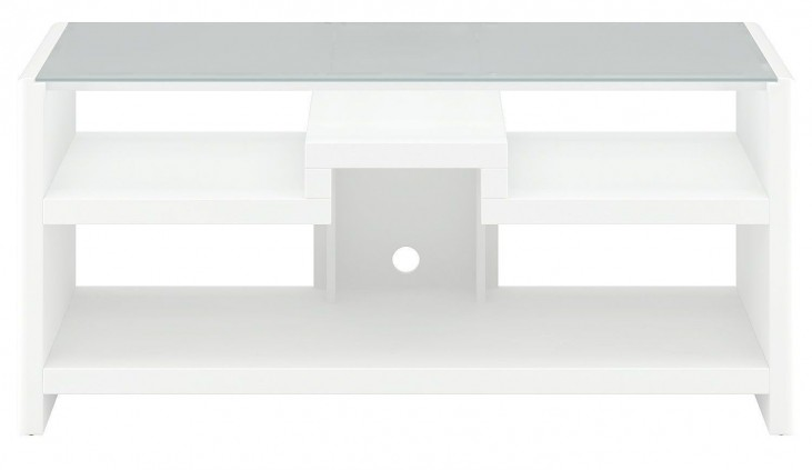 New York Skyline Plumeria White 3-in-1 Gaming Center / TV Stand