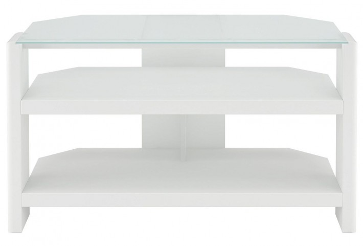 New York Skyline Plumeria White TV Stand