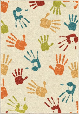 Handprints Ivory Small Rug