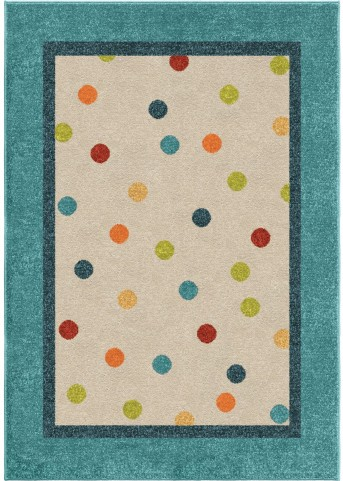 Orian Rugs Kids Polka Dots Polka Multi Area Small Rug