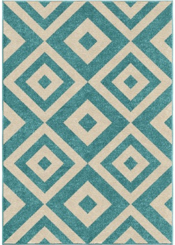 "Orian Rugs Kids Boxes Maricopa Blue Area Rug (3'10"" x 5'2"")"