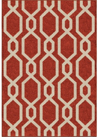 Orian Rugs Kids Trellis Niagra Red Area Small Rug