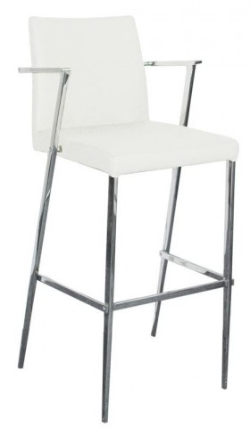 Kingston-C White Counter Height Barstool