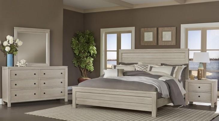 Kismet Sandstone Oak Planked Bedroom Set