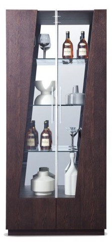 Kurt Coffee Oak Curio Cabinet