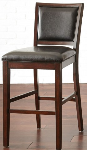 Jasper Black Vinyl Bar Chair