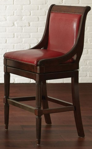 Ferris Red Vinyl Bar Chair