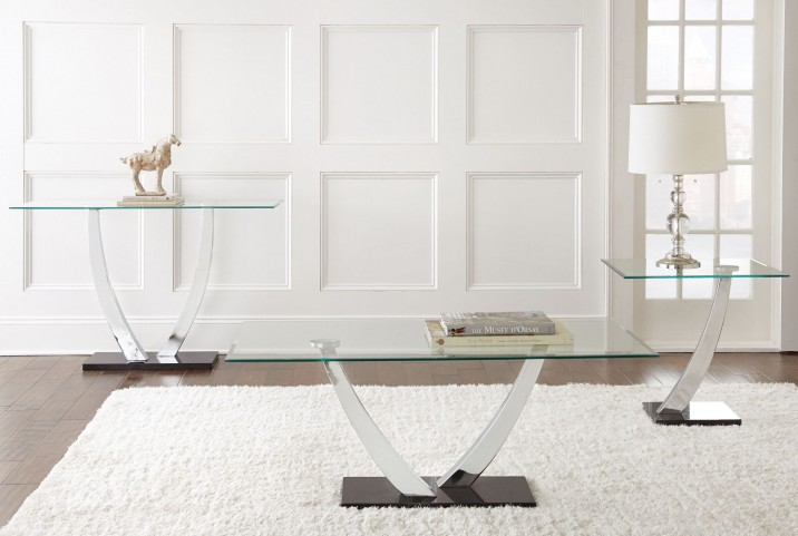 Kaylee Glass Top Occasional Table Set