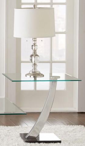 Kaylee Glass Top End Table