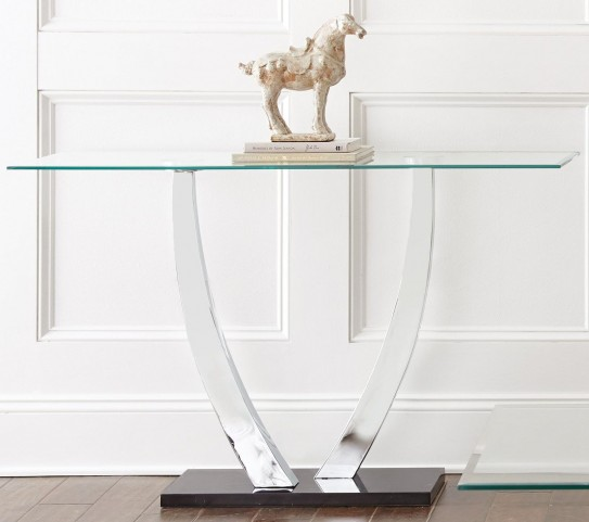Kaylee Glass Top Sofa Table