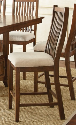 Kayan Rich Oak Counter Chair Set of 2